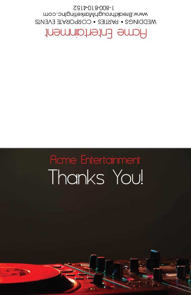 DJ Thank you cards