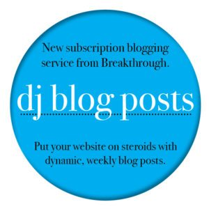 Blogging service for djs