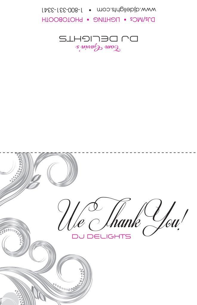 Dj thank you cards breakthrough marketing inc dj thank you card 1 expocarfo Images